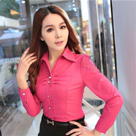 Kemeja Koboi Imprt Korea kemeja wanita kombinasi brokat 2015 model terbaru jual