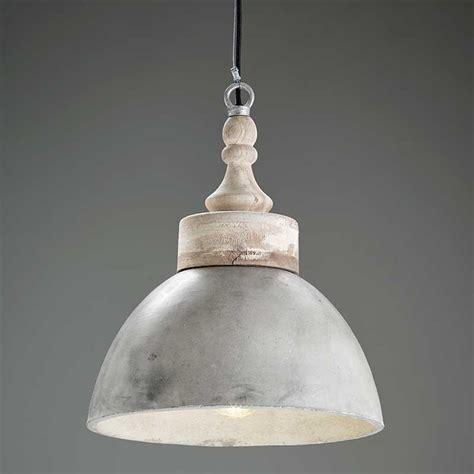 concrete and wood pendant light portland pendant in concrete with mango wood top andy