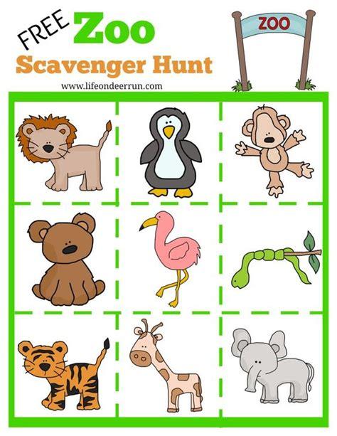 printable zoo games printable zoo scavenger hunt zoo scavenger hunt