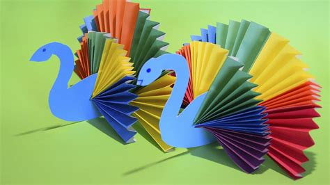How To Make A Paper Peacock - how to make rainbow peacock bird paper craft