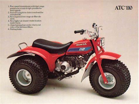 honda atc 110 3 wheeler the honda atc brochure page