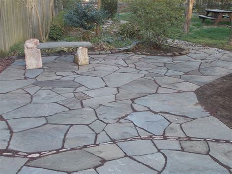 flagstone pavers patio gardener paving water fall and