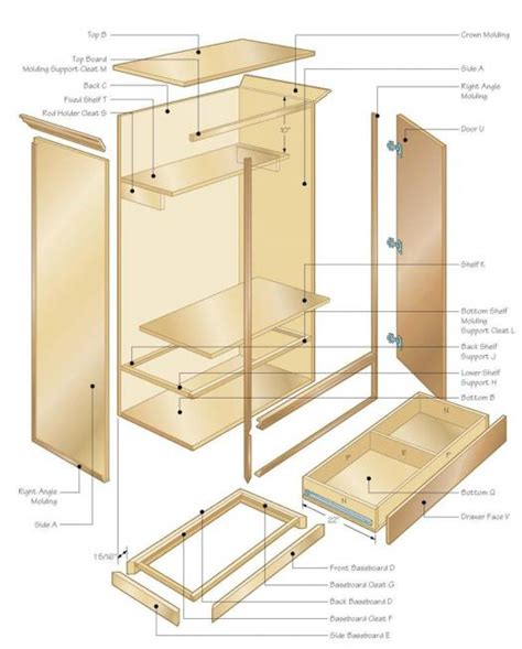 how to build an armoire closet wardrobe illustration