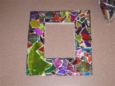 arts and craft for broken cd photo frame crafts cd