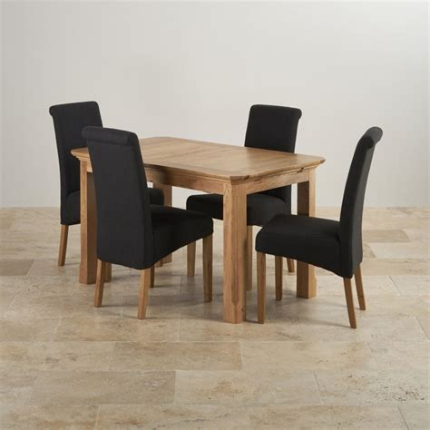 Solid Oak Extending Dining Table And 4 Chairs Edinburgh Dining Set In Oak Extending Table 4 Chairs