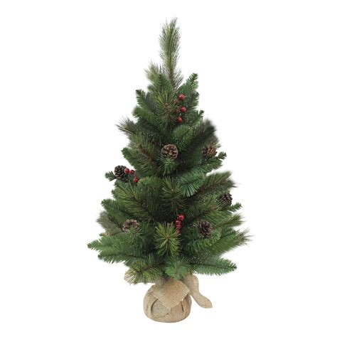 artificial trees with pine cones and berries small miniature 24 quot 2ft artificial tree