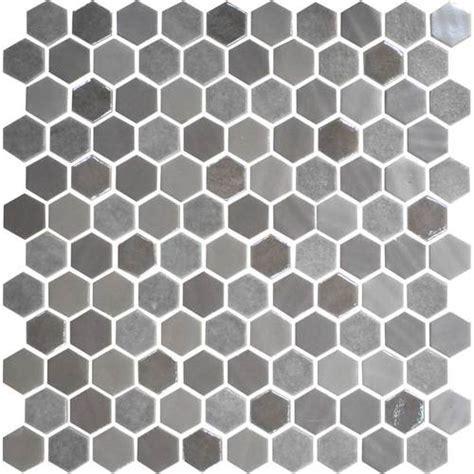 Daltile Uptown Glass Mosaics Hexagon Frost Moka (Wall)