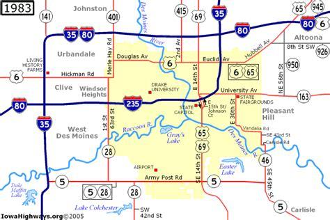 map of des moines iowa highways of des moines