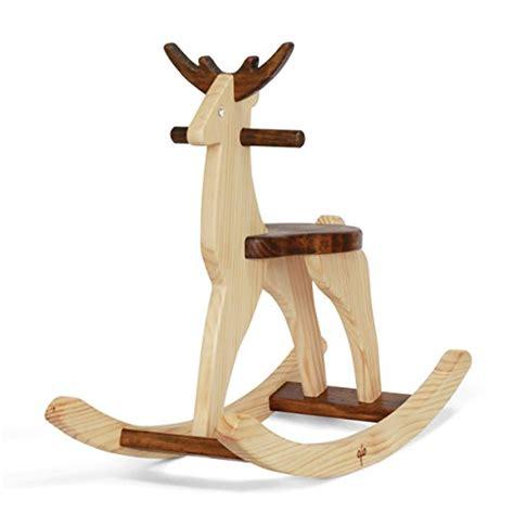 Handmade Wooden Rocking - handmade wooden ride on rocking deer reindeer animal