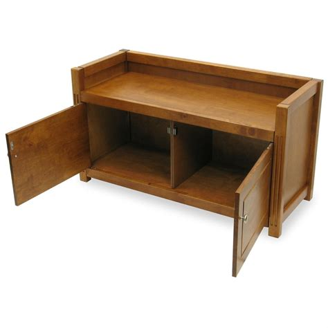winsome storage bench winsome 174 walnut regalia bench with storage 151246