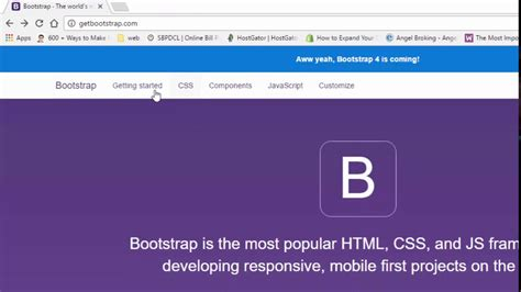bootstrap tutorial series bootstrap tutorial in hindi part 3 using cdn youtube