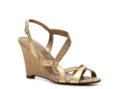 gold sandals dsw m by marinelli bell gold wedge sandal dsw 49 95 it s