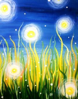 paint nite boston pizza hunt club fireflies an uplifting portrait reminding us of summer