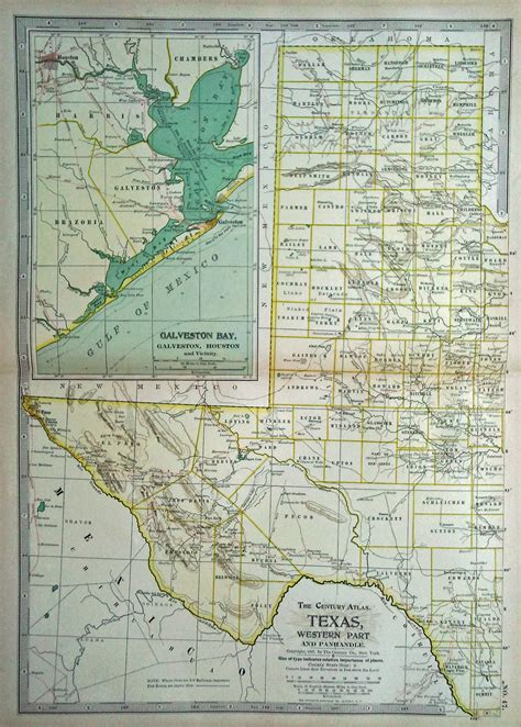 antique texas map antique maps of texas dated 1897