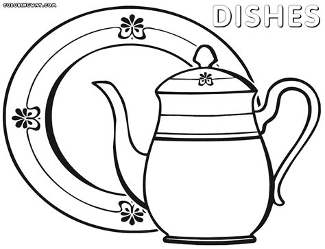 color sheets dishes coloring pages coloring pages to and print