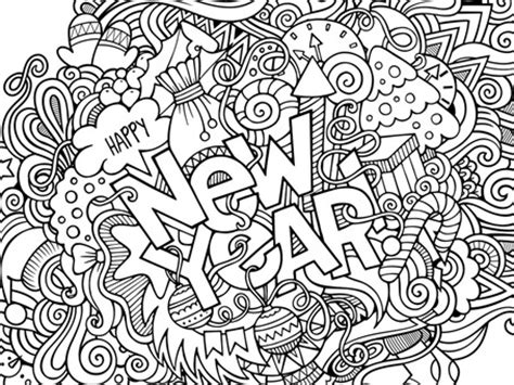 new years coloring pages new year s 2017 coloring 1 1 1 1