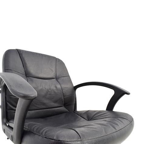 black leather desk chair 75 black leather adjustable desk chair chairs