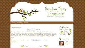 Blogs Templates by Bird Template Raylee