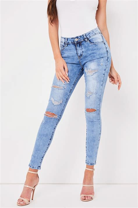 light wash denim clara blue ripped light wash denim