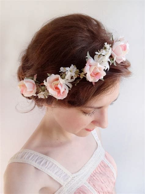 Wedding Hair Accessories Light by Pink Flower Crown Bridal Hair 2226158 Weddbook