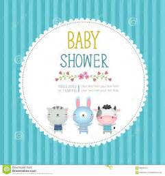 baby shower invitation card template on blue background stock vector image 58843451