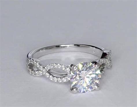 1.56 Carat Diamond Infinity Twist Micropavé Diamond