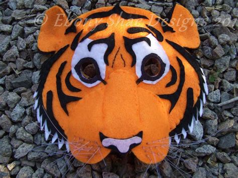 How To Make A Tiger Mask Out Of Paper - jungle book masks tiger mask pattern one size fits most
