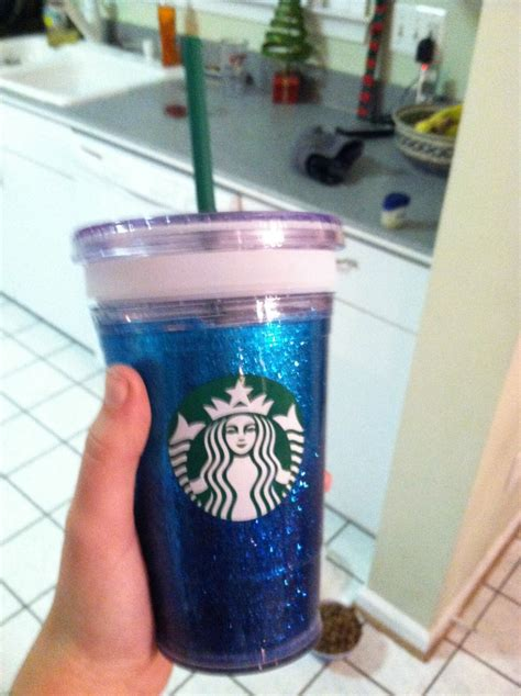 Starbucks Gliter Cold Cup modge podge and glitter starbucks cold cup plus 10 cents my creations