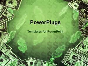 powerpoint template dollar signs and dollar bills in