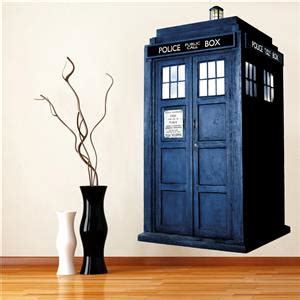 Dr Who Home Decor Dr Who Tardis Phone Booth Decal Wall Sticker Home Decor Call Doctor Ebay