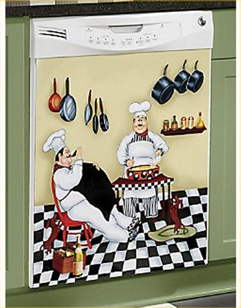 italian chef kitchen decor theme chef dishwasher magnet bistro kitchen door cover
