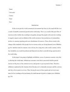 mla style essay one aspect of the current economic crisis