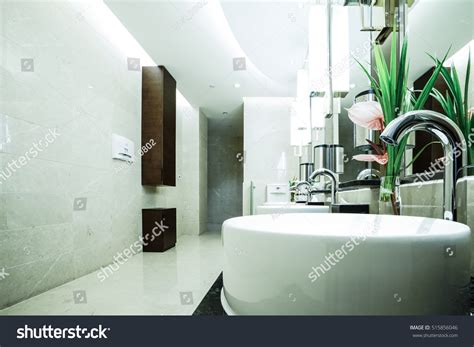 contemporary toilet contemporary interior of toilet stock photo