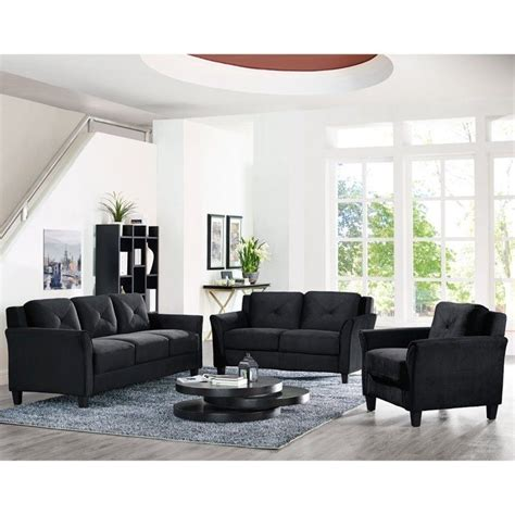 Microfiber Living Room Furniture Sets by 3 Home Furniture Sofa Loveseat Chair Set Seats