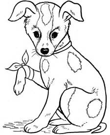 coloring pages of dogs free printable coloring pages for