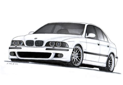 bmw car drawing bmw m5 e39 drawing by vertualissimo on deviantart
