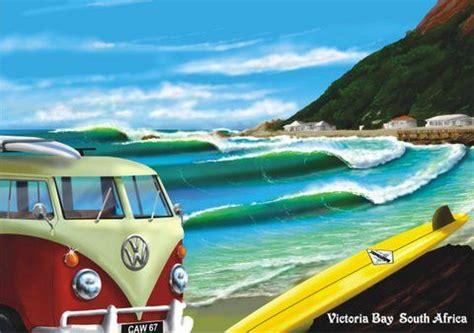 kombi view   beach vintage vw buses exotic mobile homes surfing surf art bus art