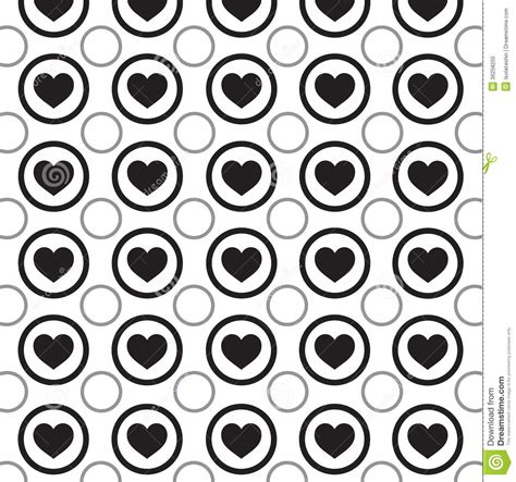 black heart pattern heart pattern stock illustration image of love ornament