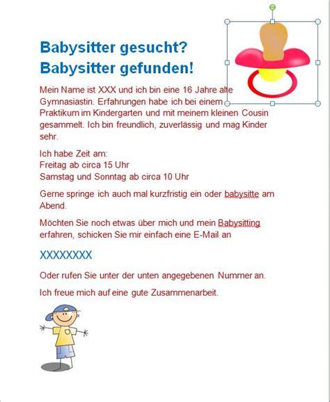 Job Resume Mail by Babysitteraushang So Okay Baby Flyer Babysitting