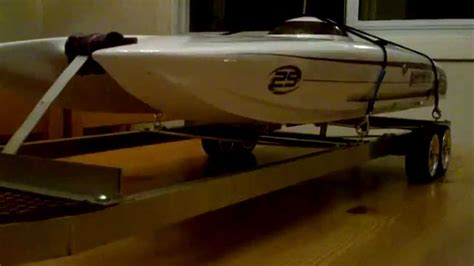 rc boat trailers how to build rc boat trailer build walk around youtube