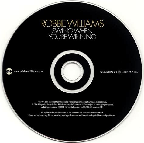 robbie williams swing when you re winning cd robbie williams swing when you re winning 2001