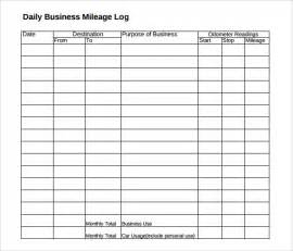 Business Mileage Template mileage log template 13 free documents in pdf doc