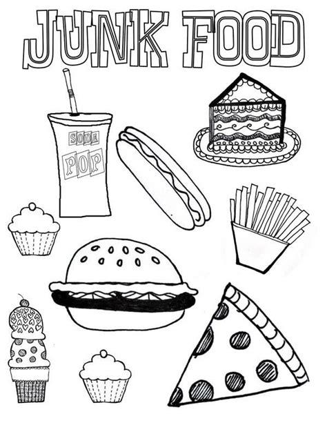 healthy food coloring pages preschool junk food coloring page download print online coloring