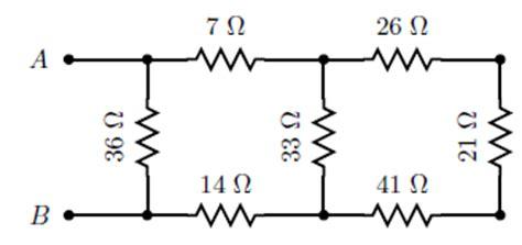 resistor t network equivalent resistance find the equivalent resistance req between points chegg