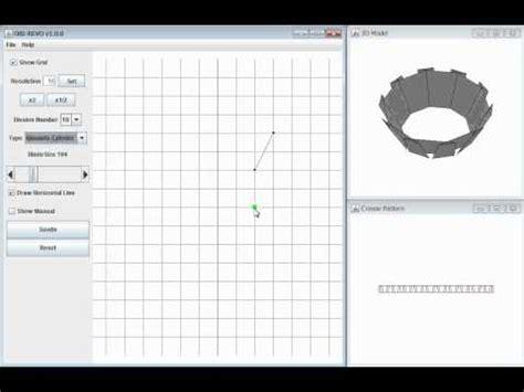 Origami Design Tool - demo of the ori revo a design tool for 3d origami of