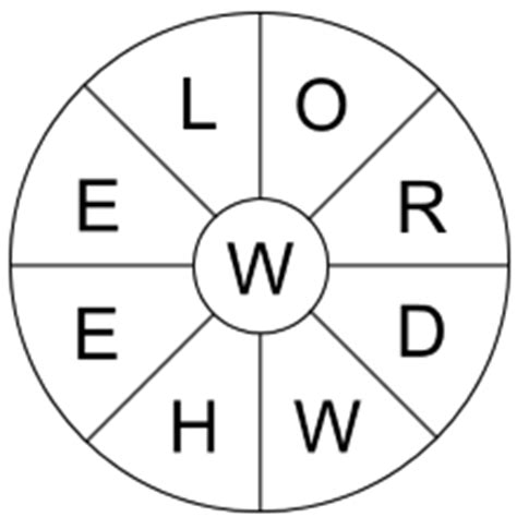 word wheel template welcome to free printable puzzles