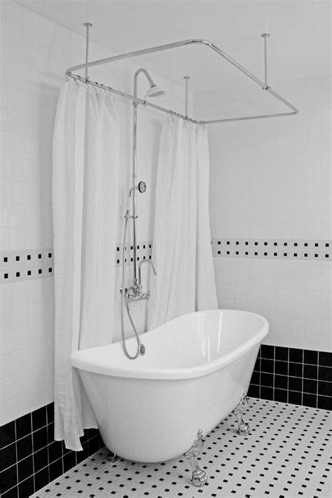shower curtain for bathtub how to make a rod for clawfoot tub shower curtain home