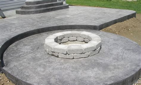 decorative concrete patio cost images
