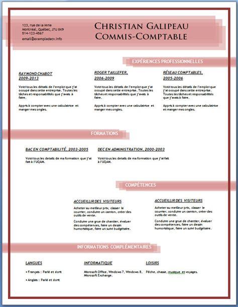 Exemplaire De Cv En Francais Gratuit by T 233 L 233 Charger Exemplaire De Cv Gratuit Mod 232 Le Cv En Fran 231 Ais