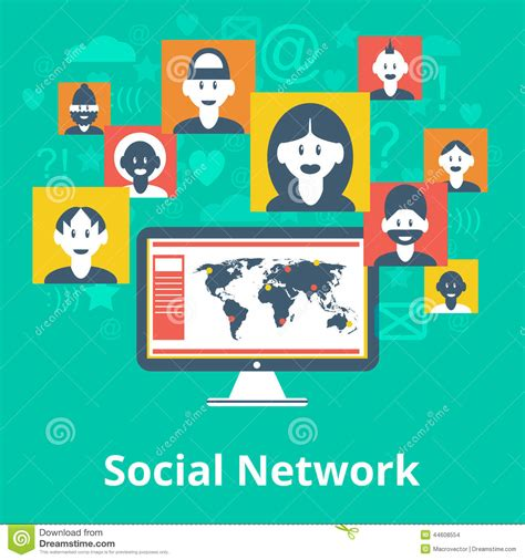 design poster social media social network icons composition poster stock vector
